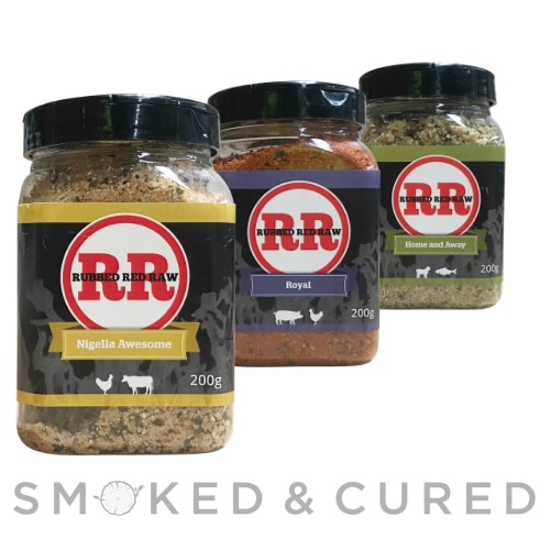 Rubbed Red Raw BBQ Rub 3 Pack
