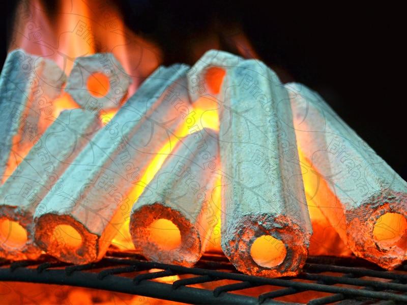 Firebrand Charcoal - 10kg - Compressed Hardwood Tubes