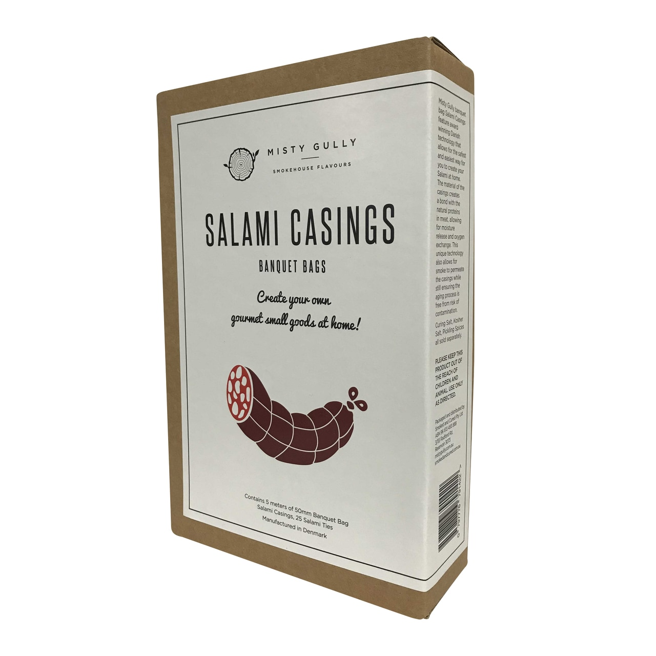 Misty Gully Banquet Bags Salami Casings - 75mm (5m length)